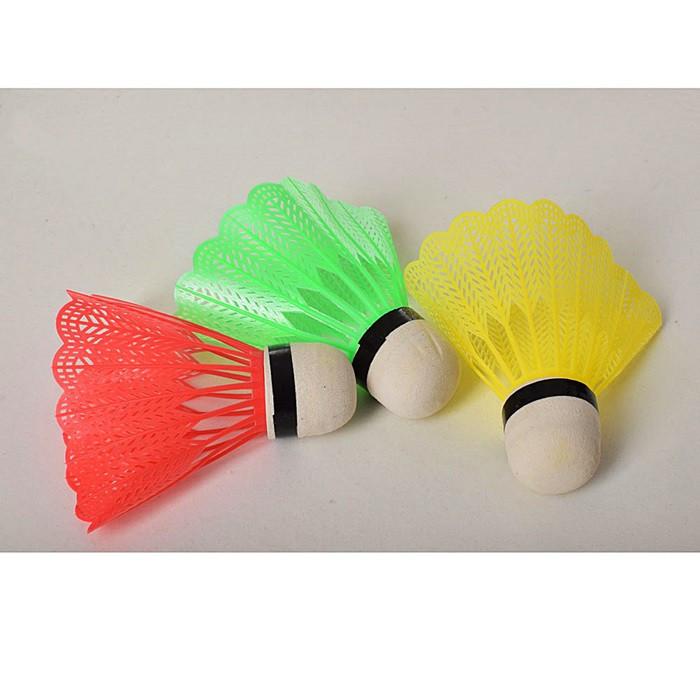 Набор Воланчиков к бадминтону MS1958  8см, цветной пластик, 3шт в пакете 12*9*3см. Цена за набор