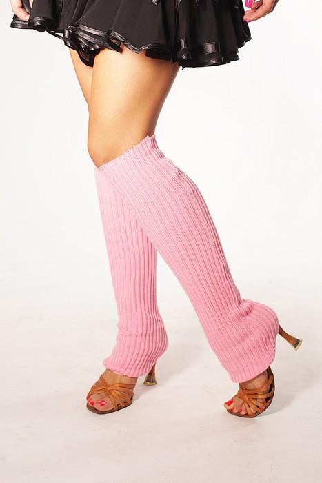 Вязанные гетры розовые 40 см