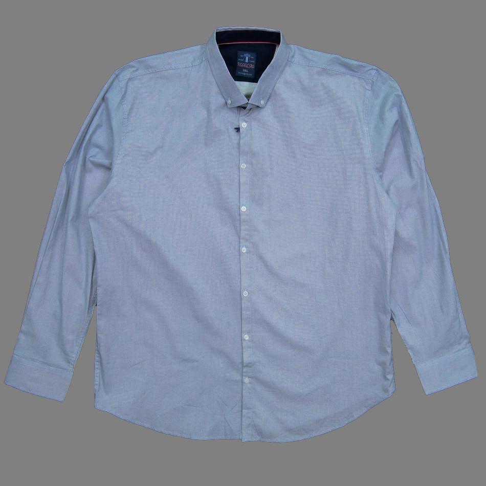 Сорочка чоловіча, приталена (Slim Fit), з довгим рукавом Bagarda BG6719-B01 WHITE 93% бавовна 7% еластан