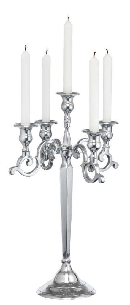 Подсвечник на 5 свечей высота 52 см из алюминия