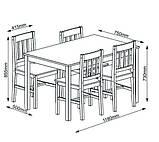 Комплект кухонный мебели сосна (стол + 4 стула) натура, фото 3
