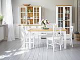 Стул обеденный белый деревянный , фото 4
