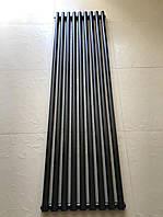 Вертикальный дизайнерский радиатор отопления Matera 9/1800 чёрный матовый