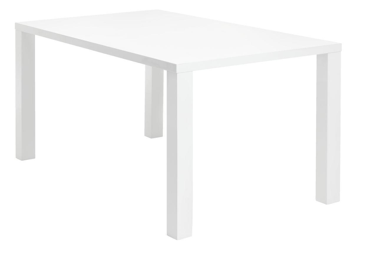Стол обеденный 90х160см белый глянец