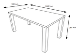 Стол обеденный 90х160см белый глянец, фото 2