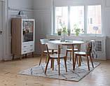 Комплект кухонный компактный белый (стол круглый + 4 стула), фото 2