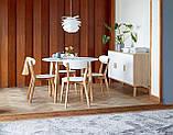 Комплект кухонный компактный белый (стол круглый + 4 стула), фото 3