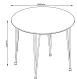 Круглый белый стол обеденный (диаметр 90 см), фото 3