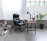Стильный офисный стол с ящиком черным 120 см, фото 3