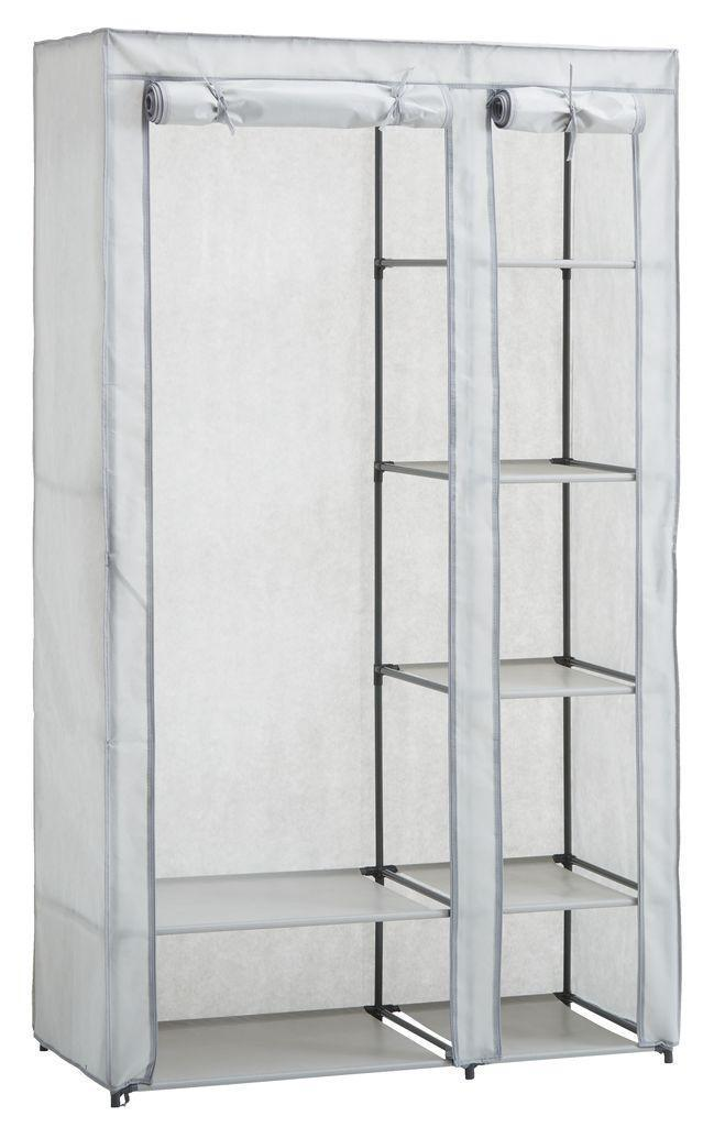 Складной тканевый шкаф на металлическом каркасе 100x174см