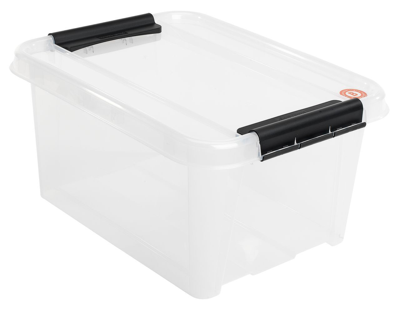 Ящик пластиковый белый прозрачный для хранения 32 л. с крышкой