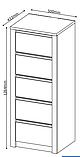 Комод с ящиками полного извлечения 50 см ширина , фото 3