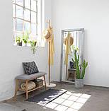 Лавка банкетка в прихожую серый / бамбук, фото 5