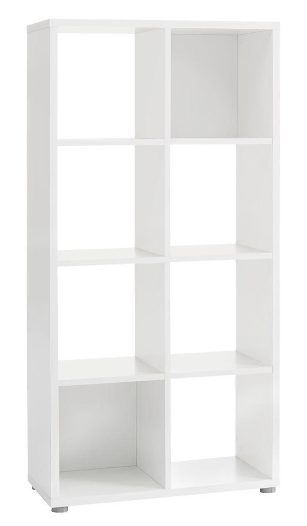 Разделитель комнаты белый (этажерка) на 8 полок (высота 147 см)