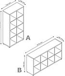 Разделитель комнаты белый (этажерка) на 8 полок (высота 147 см), фото 2