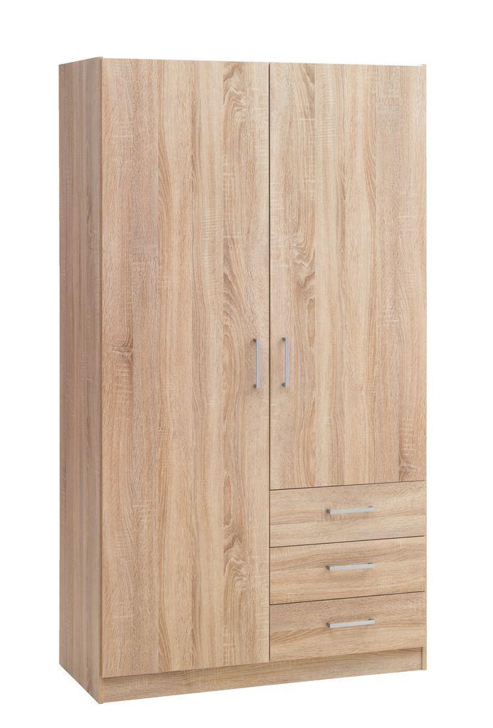 Шкаф распашной с навесными дверьми и 3 ящика выдвижных
