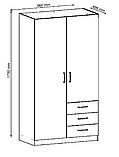 Шкаф распашной с навесными дверьми и 3 ящика выдвижных , фото 2
