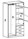 Шкаф распашной с навесными дверьми и 3 ящика выдвижных , фото 3