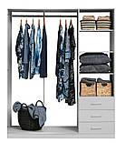 Шкаф распашной белый на 3 двери и 3 ящика выдвижных, фото 3