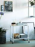Этажерка - столик белая на колесиках , фото 4