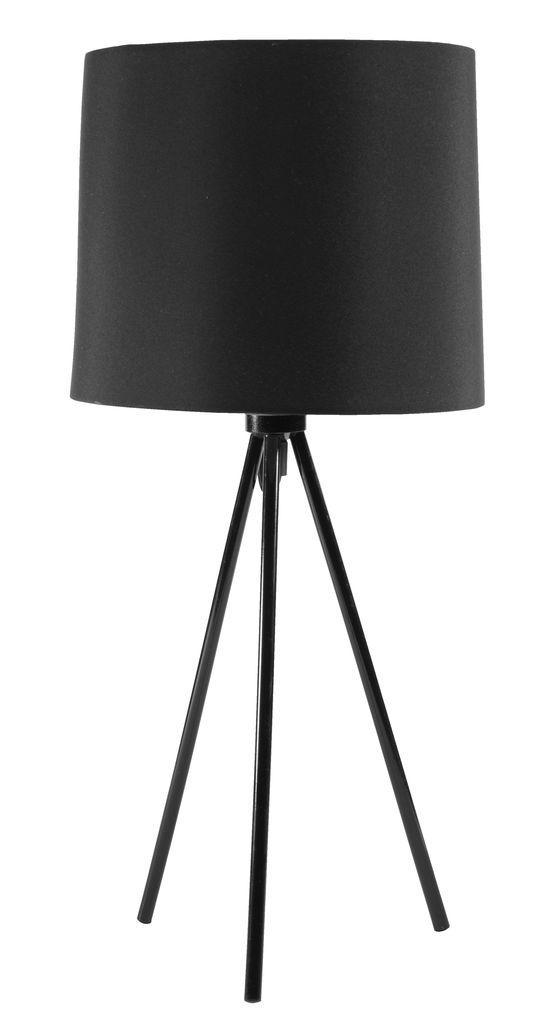 Настольная лампа черная на ножках (высота 49 см)