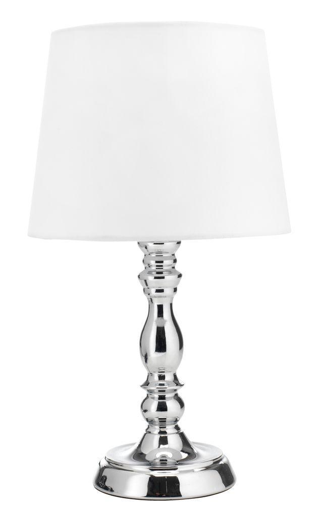"""Настольная лампа """"Хром"""", белый (высота 35 см)"""