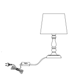 "Настольная лампа ""Хром"", белый (высота 35 см), фото 3"