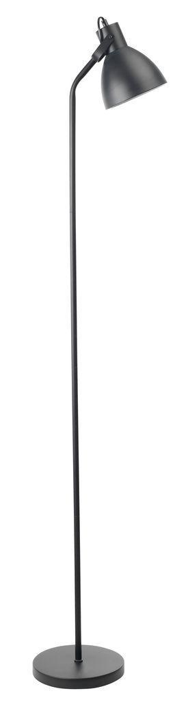 Напольная лампа - торшер металлический черный (высота 150 см)