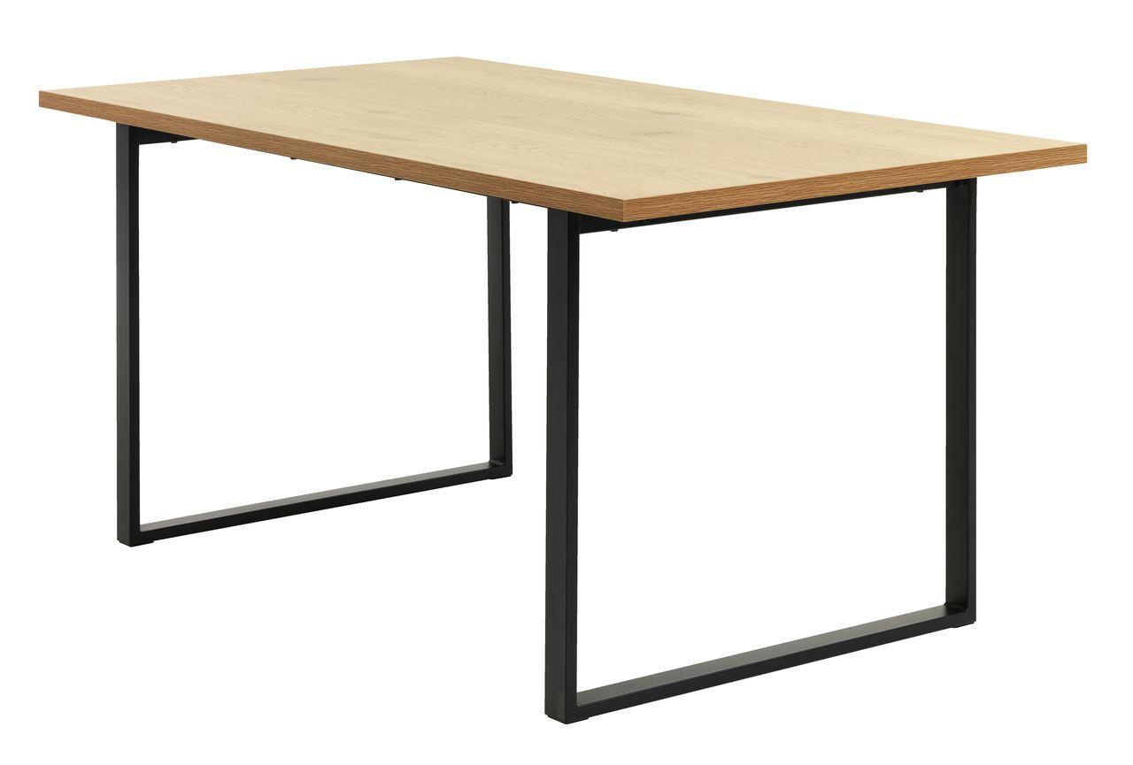 """Стол обеденный на металлических ножках 160 см (""""Дуб"""", черный)"""