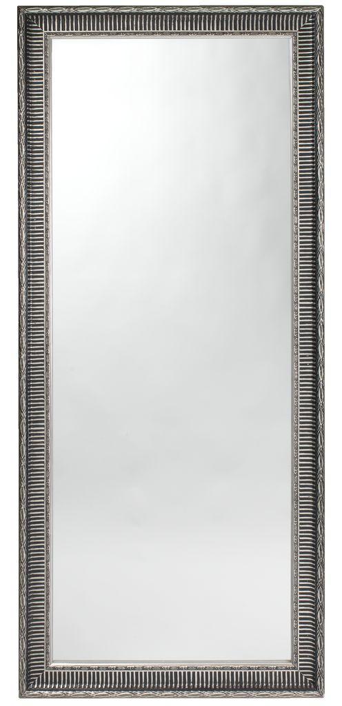 Большое зеркало напольно настенное (Серебристый антик.) 180 см