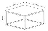 Столик квадратный из метала (под бетон), фото 5