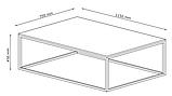 Столик кофейный лофт стиль из металла с покрытием под бетон, фото 7