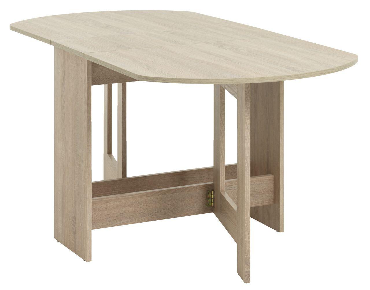 Обеденный стол раскладной 80x163см матовий дуб