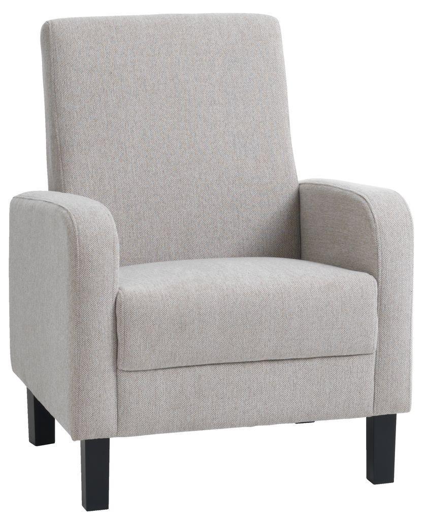 Кресло мягкое тканевое песочное