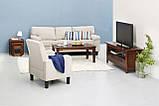 Кресло мягкое тканевое песочное, фото 3