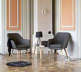 Стильное серое кресло тканевое , фото 5
