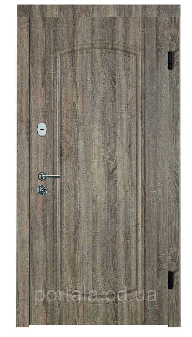"""Входные металлические двери для квартиры """"Портала"""" (серия Комфорт) ― модель Шампань"""