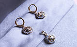 Набір сережки+кулон фірми Xuping позолота, фото 2