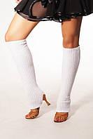 Вязанные гетры белые 40 см