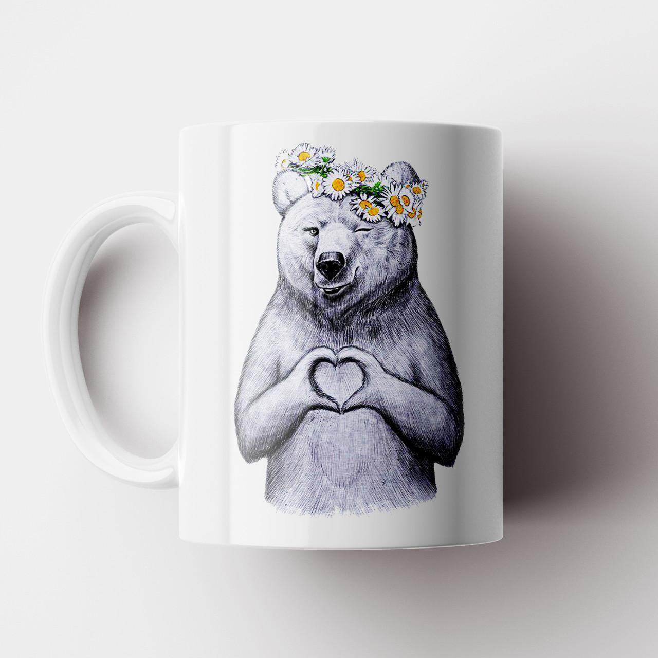 Чашка подарок любимому / любимой Мишка Love. Любовь. Чашка с фото