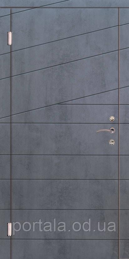 """Вхідні двері """"Портала"""" (серія Комфорт) ― модель Діагональ 2"""