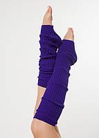 Вязанные гетры фиолетовые 40 см
