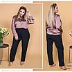 Брюки классика прямые средняя посадка ткань костюмка 48-50,52-54,56-58, фото 2