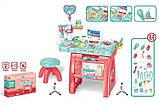 Доктор игровой набор 660 62 стол, стульчик, компьютер, инструменты, 22 предмета, звук, свет, фото 6