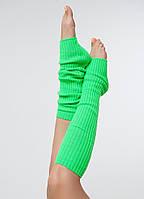 Вязанные гетры зеленый 40 см