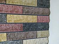 Плитка фасадная мраморная 250х65х22мм. Серый,коричневый,терракот,бордо