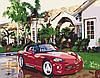Детская картина по номерам Роскошная жизнь Розкішне життя 40*50см KHO2502 Красный автомобиль, фото 2