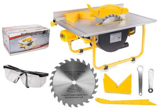Пила циркулярная настольная POWERMAT PM-TPS-1650 + очки защитные C0002