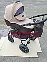 Детская коляска 2 в 1 Classik Len(Классик Лен) Victoria Gold Коричневый беж, фото 2