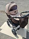 Детская коляска 2 в 1 Classik Len(Классик Лен) Victoria Gold Коричневый беж, фото 3